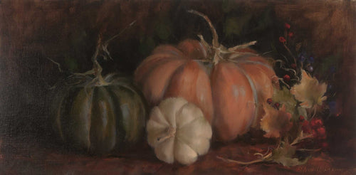 Painting: Musquee de Provence Artist: Pam Newell Medium: Oil on Linen Size: 10