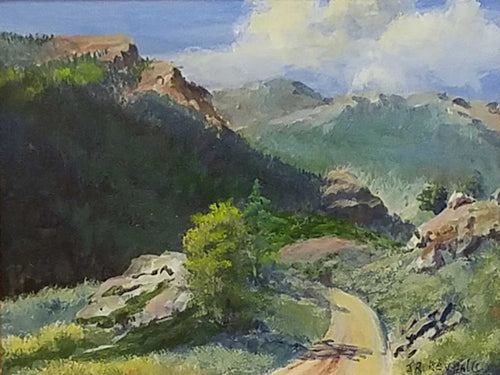 Painting: My Favorite Drive Artist: J. Rodney Reveal Medium: Oil  Size: 9
