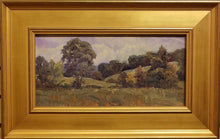 "Load image into Gallery viewer, Painting: Song of September Artist: Char Beth Brown Medium: Oil Size: 8"" x 16"" Framed"