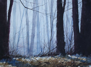 "Painting: Southeast Woods Artist: Allen Hutton Medium: Watercolor Size: 9"" x 13"""