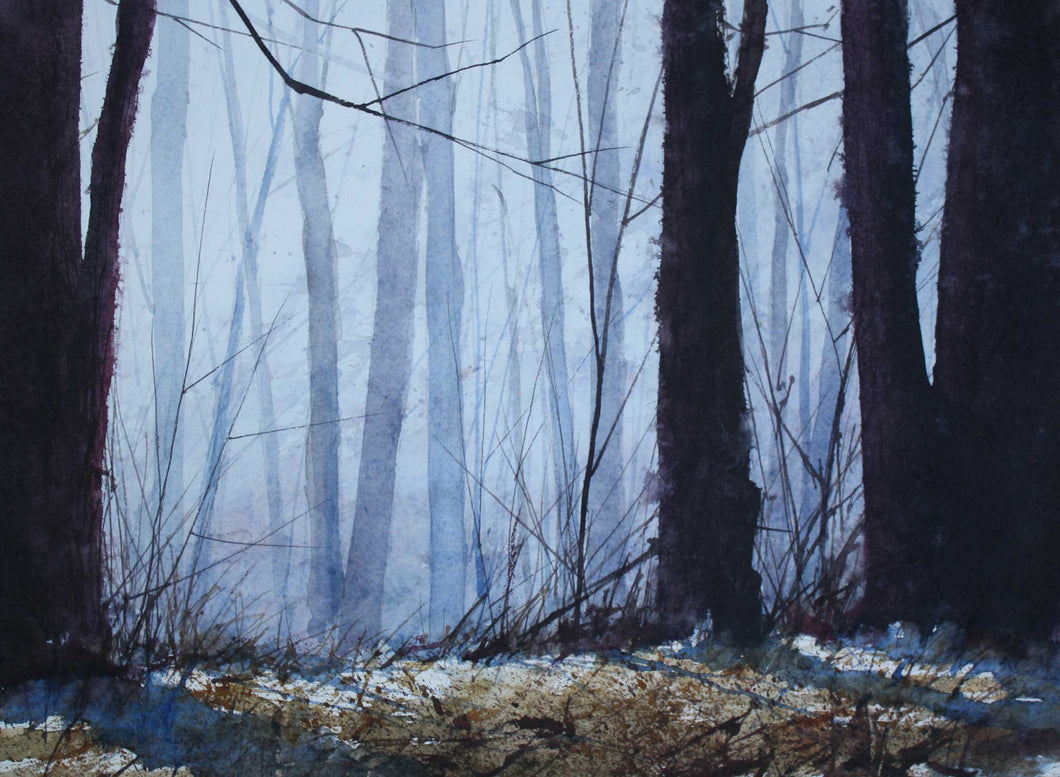 Painting: Southeast Woods Artist: Allen Hutton Medium: Watercolor Size: 9