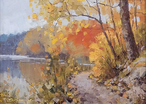 Painting: Strahl Lake Trail Artist: Thom Robinson Medium: Oil Size: 9
