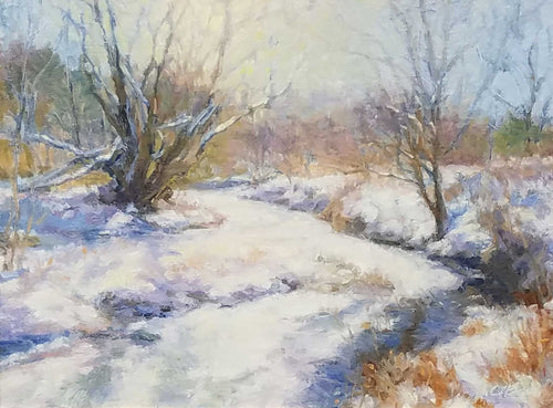 Painting: The Colors of Winter Artist: Charlene M. Brown Medium: Oil on Linen Size: 12