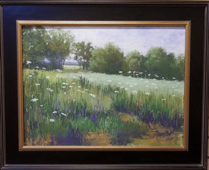 "Painting: The Queens Lace Artist: Ron Burgess Medium: Pastel Size: 18"" x 24"", Framed"