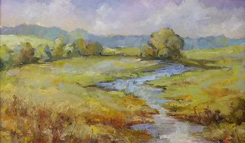 Painting: Wandering Water Artist: Mary Ann Davis Medium: Oil Size: 18