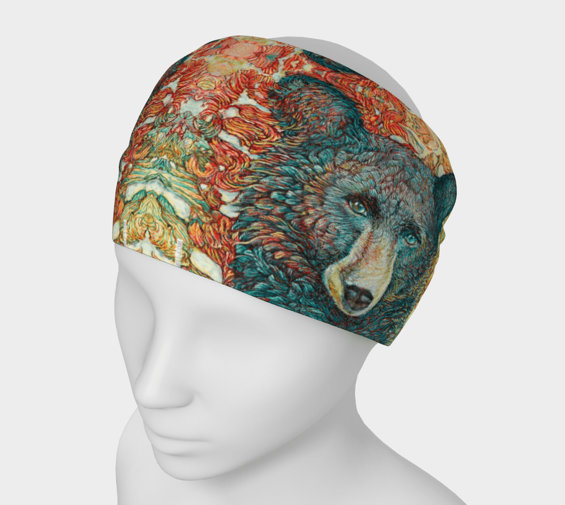 BLACK BEAR - HEAD WRAP - Col Mitchell ~ Wild Blackbird