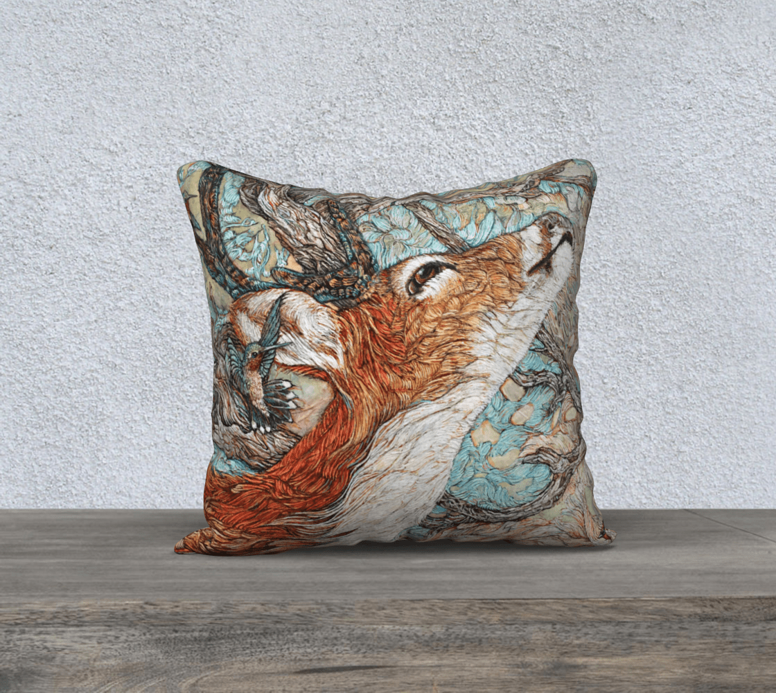 BUCK - CUSHION COVER - Col Mitchell ~ Wild Blackbird