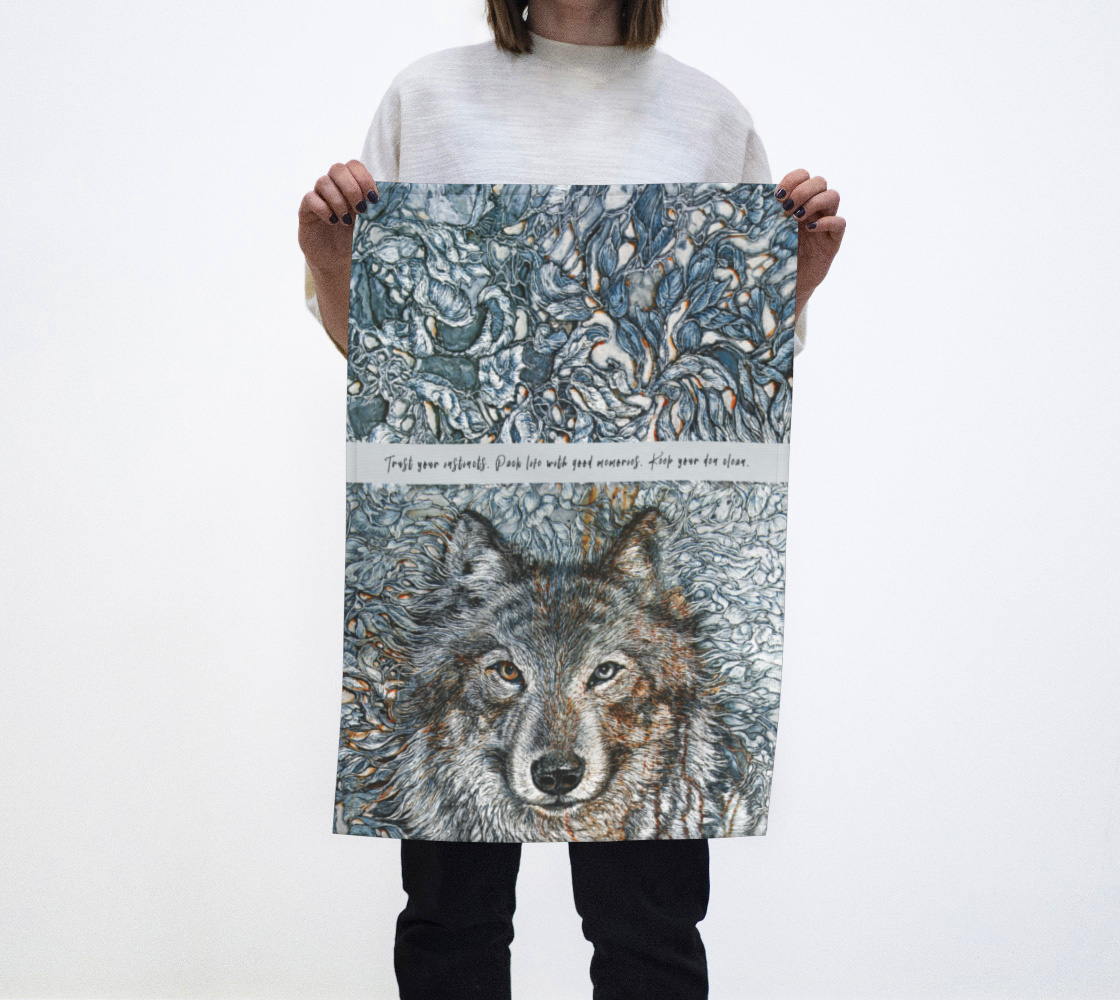 WOLF I - TEA TOWEL