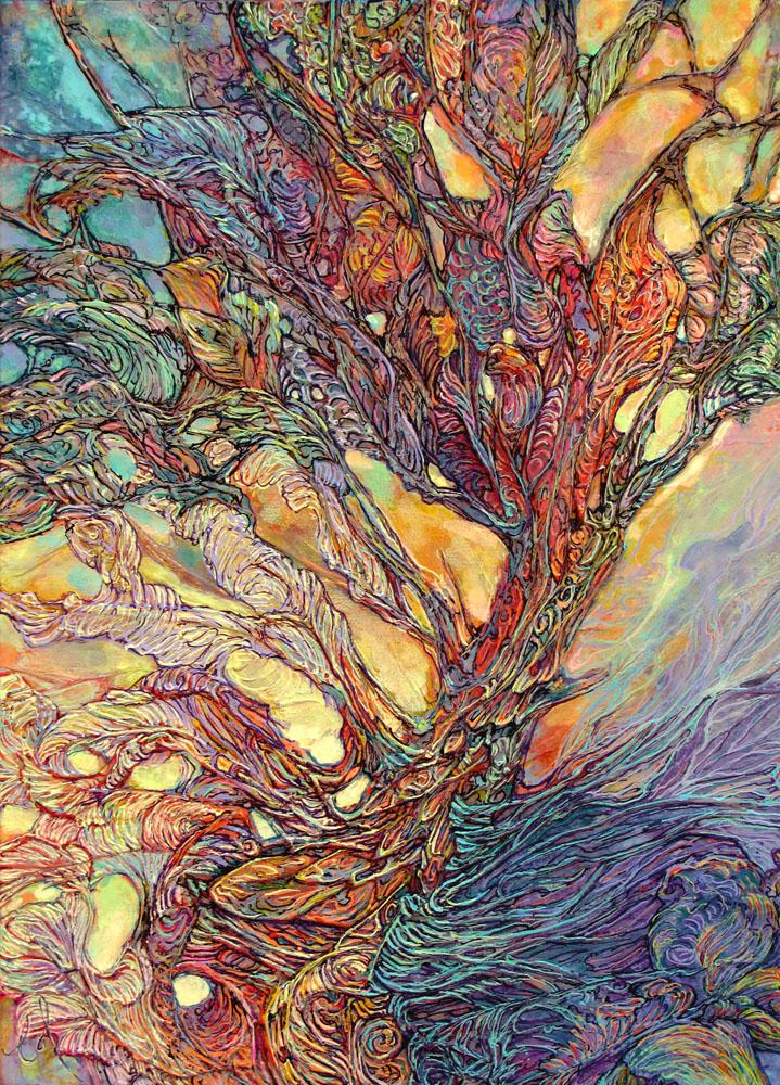 Emerging with Dawn Tree of Life - PostCard - Col Mitchell ~ Wild Blackbird