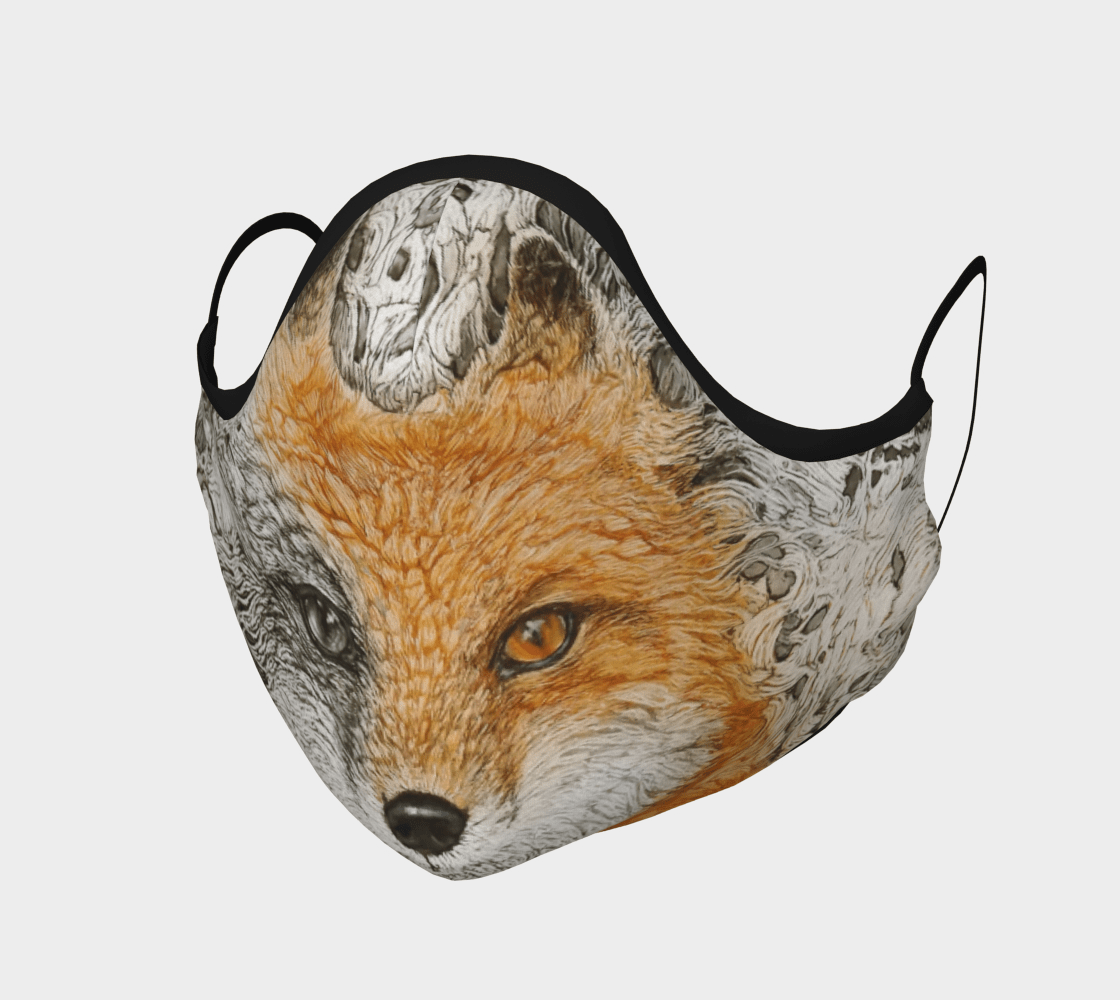 Fox - Face Mask - Non Medical - Col Mitchell ~ Wild Blackbird