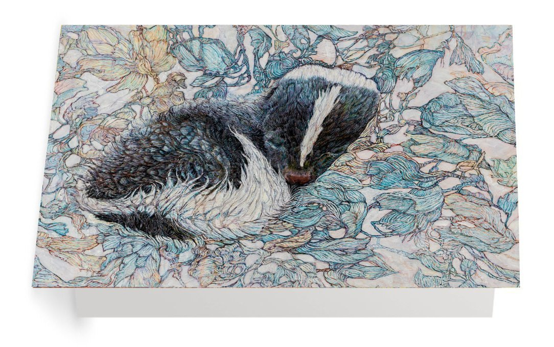 Kit Skunk - Art Card - Col Mitchell ~ Wild Blackbird