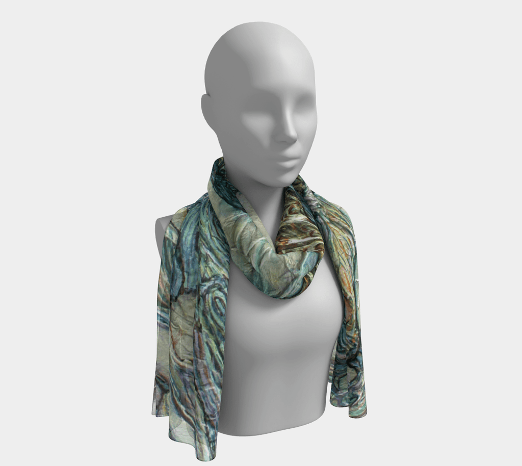 LEAVES - SILK SCARF - Col Mitchell ~ Wild Blackbird