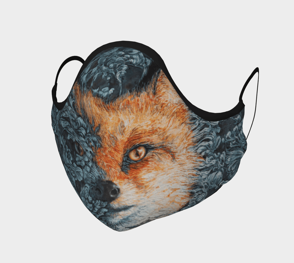 Night Vixen - Face Mask - Non Medical - Col Mitchell ~ Wild Blackbird