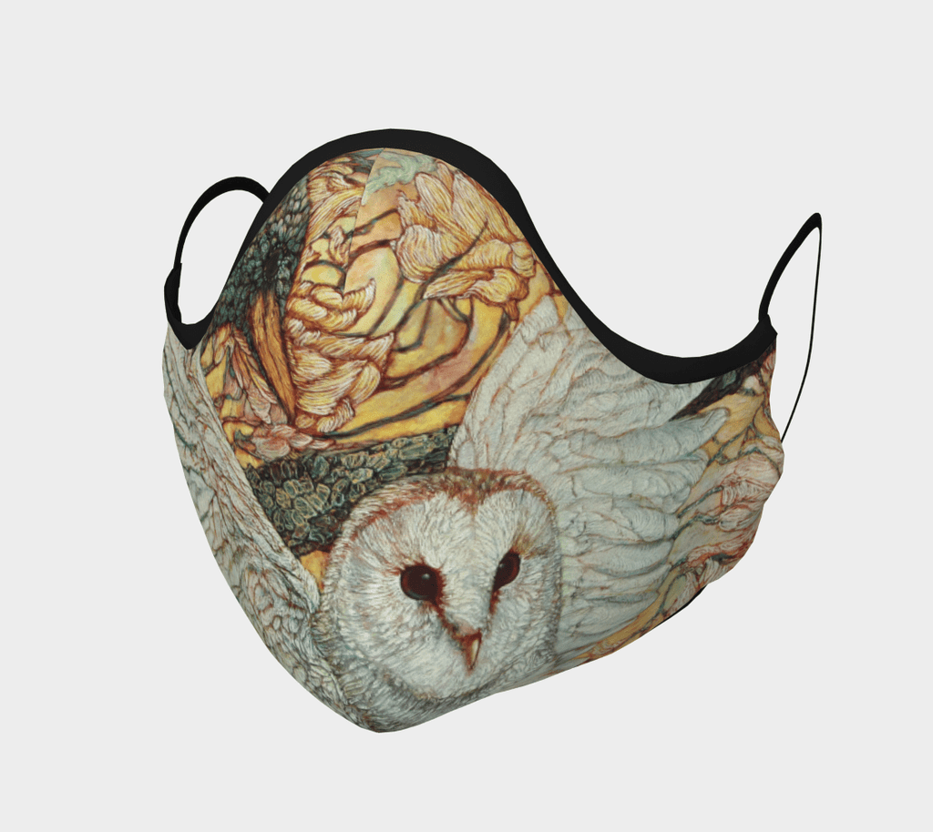 Owl and Raven - Face Mask - Non Medical - Col Mitchell ~ Wild Blackbird