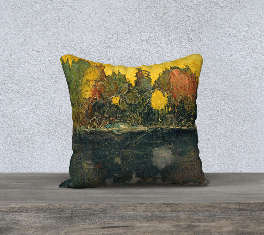 REFLECTION 2 - CUSHION COVER - Col Mitchell ~ Wild Blackbird