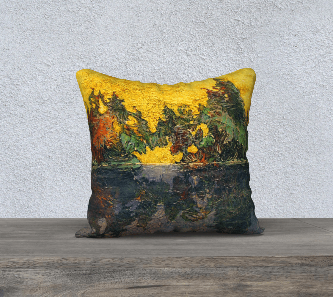REFLECTION 3 - CUSHION COVER - Col Mitchell ~ Wild Blackbird