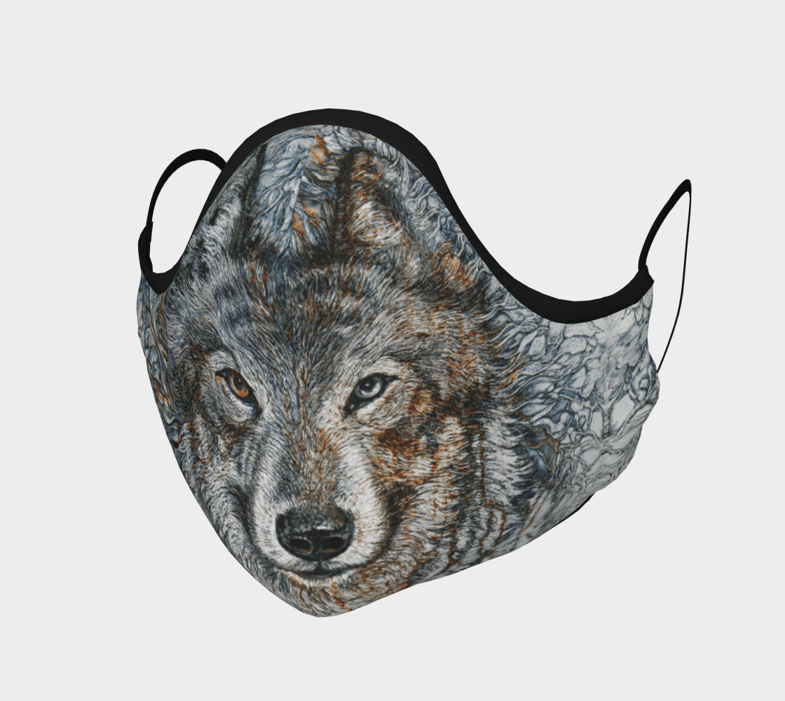 Timber Wolf - Face Mask - Non Medical - Col Mitchell ~ Wild Blackbird