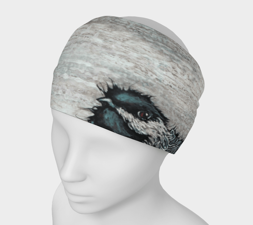 WEATHERED CHICKADEE - HEAD WRAP - Col Mitchell ~ Wild Blackbird