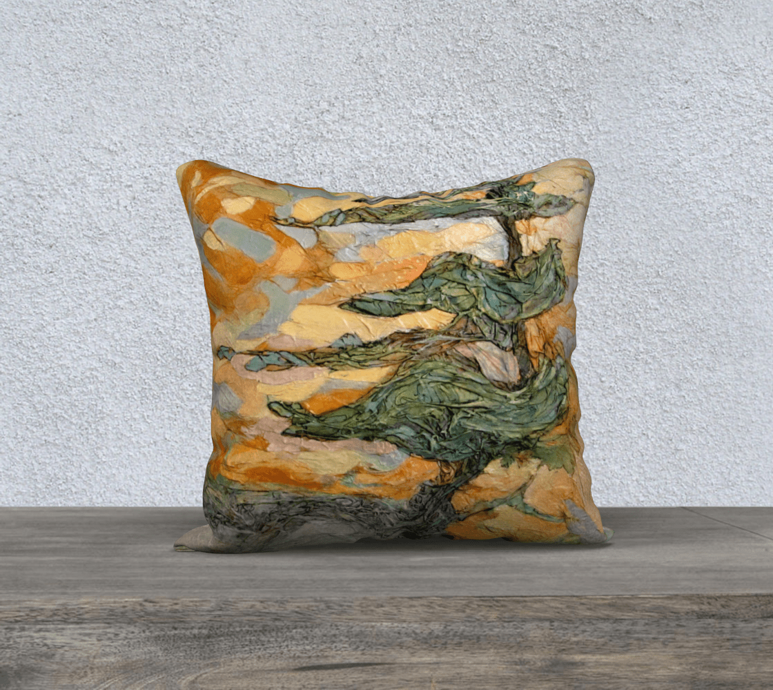 WIND SWEPT PINE - CUSHION COVER - Col Mitchell ~ Wild Blackbird