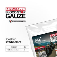 ASK+  Life-Saver Blood Stop Gauze For 2 Wheelers