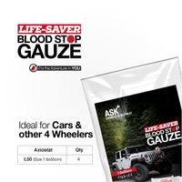 ASK+  Life-Saver Blood Stop Gauze For 4 Wheelers