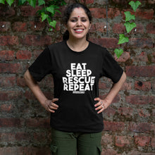 Load image into Gallery viewer, Eat Sleep Rescue Repeat T-shirt