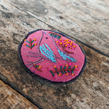 Load image into Gallery viewer, Hand Embroidered Bird Pin