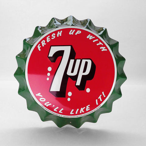 7-Up Bottle Cap Sign