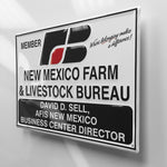 New Mexico Farm Bureau Metal Sign