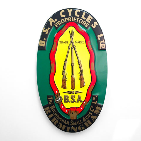 BSA Cycles Proprietors Sign
