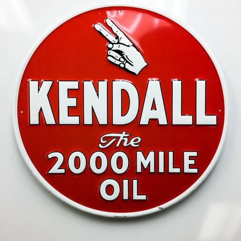 Kendall 2000 Motor Oil Sign