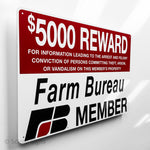 Farm Bureau Reward Sign