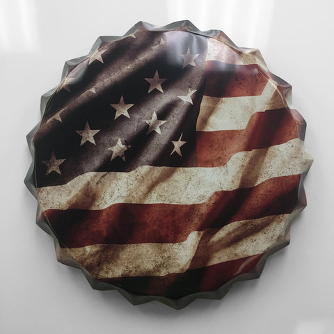 American Flag Bottle Cap