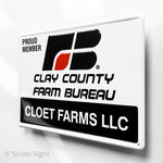 Custom Farm Bureau Sign