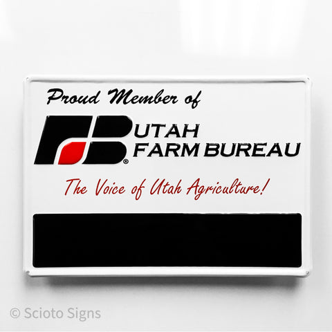 Utah Farm Bureau Metal Sign