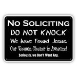 No Soliciting - Do Not Knock Metal Sign - Sign Store