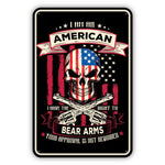 Bear Arms Metal Sign - Sign Store