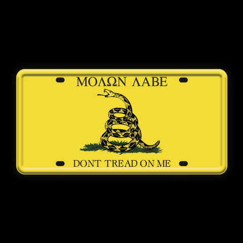 Don't Tread On Me License Plate - Sign Store