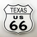 Texas Route 66 Metal Sign - Sign Store