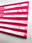Distressed Pink American Flag - Sign Store