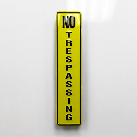 No Trespassing Metal Sign - Sign Store