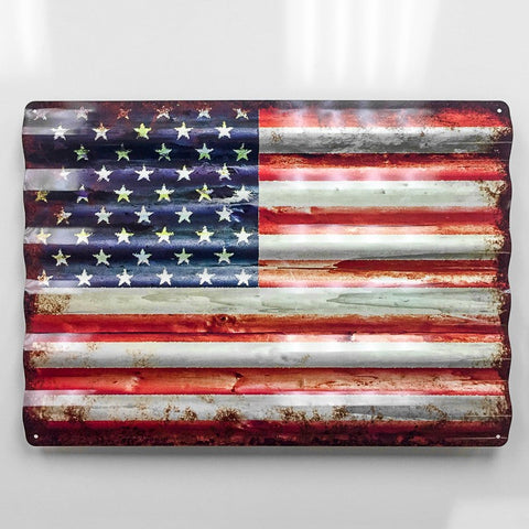 American Flag Metal Sign - Sign Store