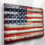 Rustic American Flag - Sign Store