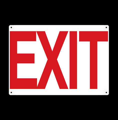 Exit Metal Sign - Sign Store