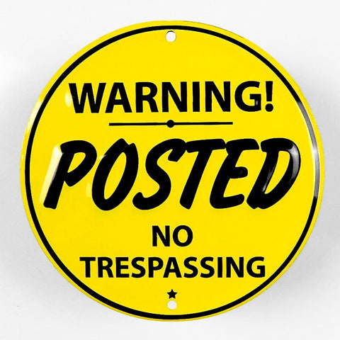 Posted No Trespassing Metal Sign - Sign Store