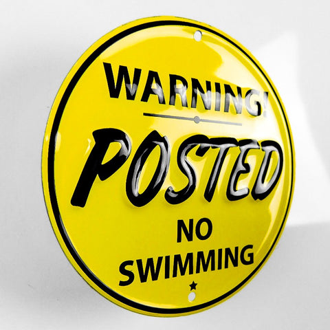 Posted No Swimming Metal sign - Sign Store