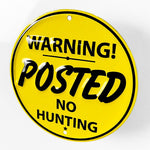 No Hunting Circle Metal Sign - Sign Store