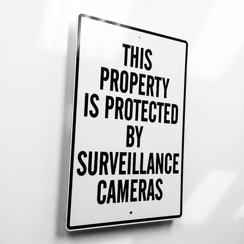 Surveillance Camera Metal Sign - Sign Store