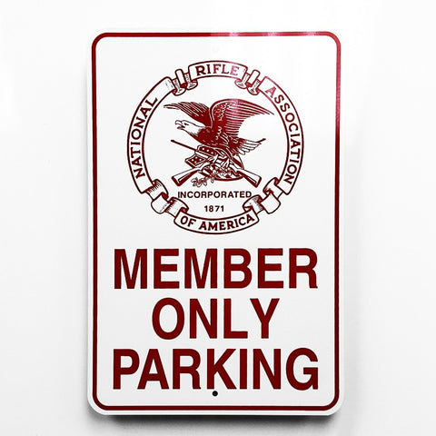 NRA Member Parking Metal Sign - Sign Store