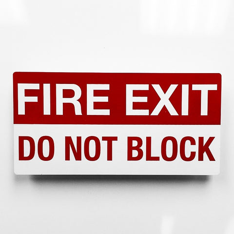 Fire Exit Metal sign - Sign Store